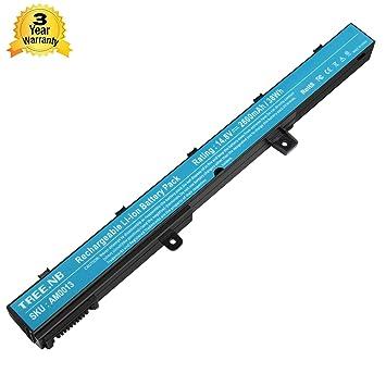 NB Batería del ordenador portátil para ASUS X451 X551 X451C X451CA X551C X551CA, PN: ASUS 0B110-00250100 A41N1308, A31N1319 D550MA-DS01 0B110-00250700 ...