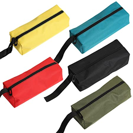 Majsterkowanie QEES Small Tool Bag 3 Pieces of Multi-purpose Canvas Pouch Electricans...