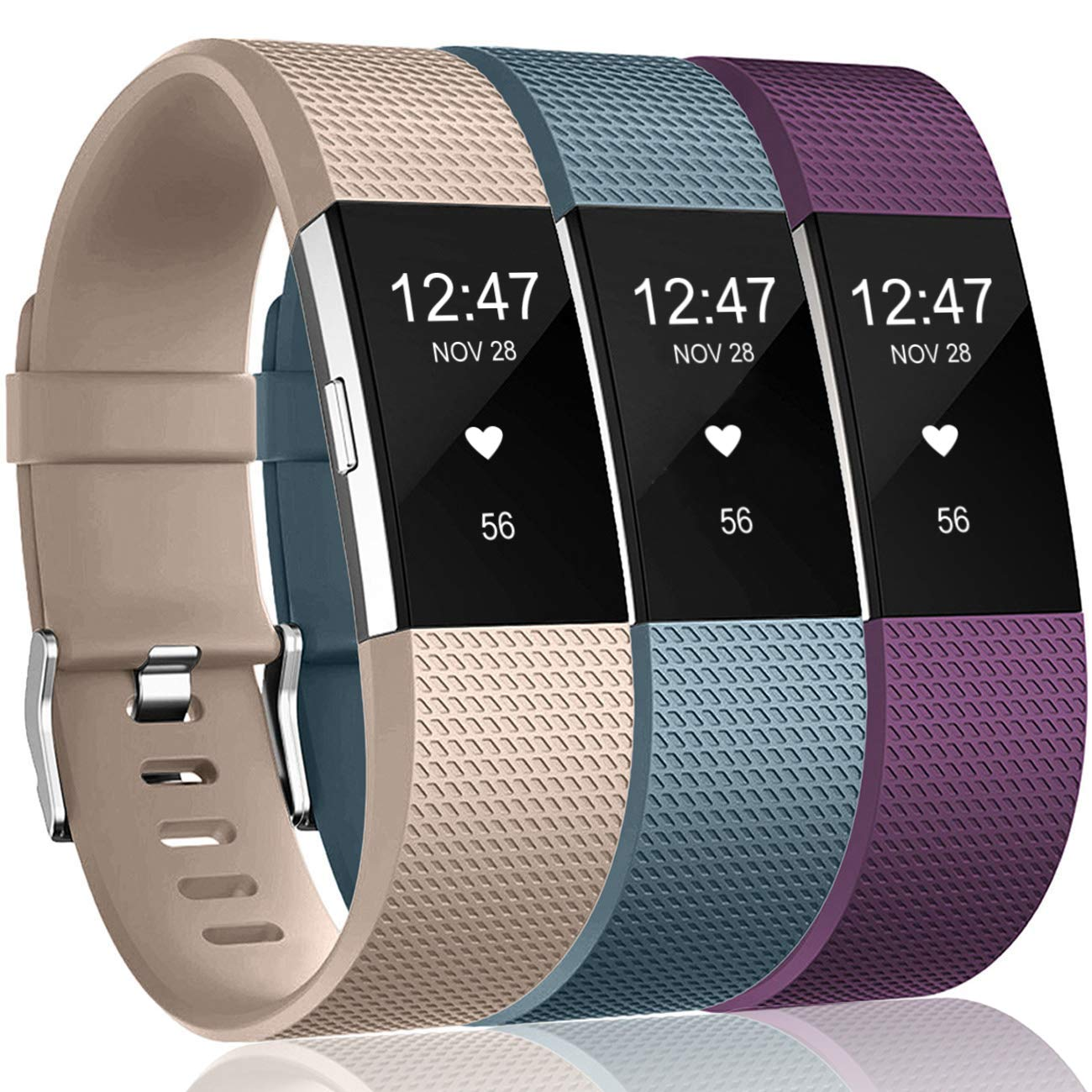 Mallas Para Reloj Fitbit Charge 2 Hr (3 Unidades) (dpzn)
