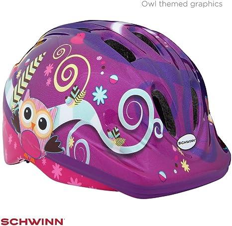 Schwinn Toddler Owl Casco Infantil, niña, Morado, Small: Amazon.es ...