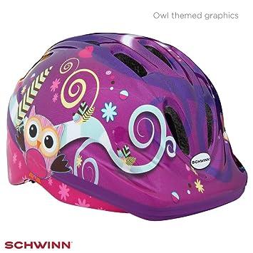 Schwinn - Casco para niña, diseño de búho, Color Morado, Talla XS ...