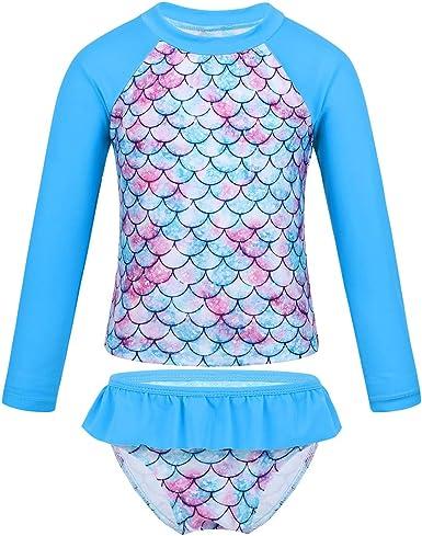 US Girls Tankini Swimsuits Rashguard Swimwear Floral Tops Bottoms Bathing Suits