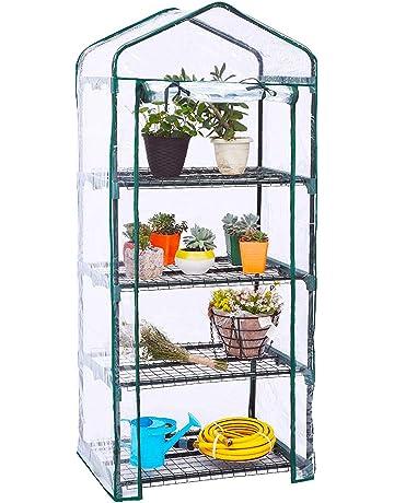 WZTO Invernadero Portátil, Durable Cubierta de Polietileno Transparente y Puerta con Cremallera Enrollable, Ideal
