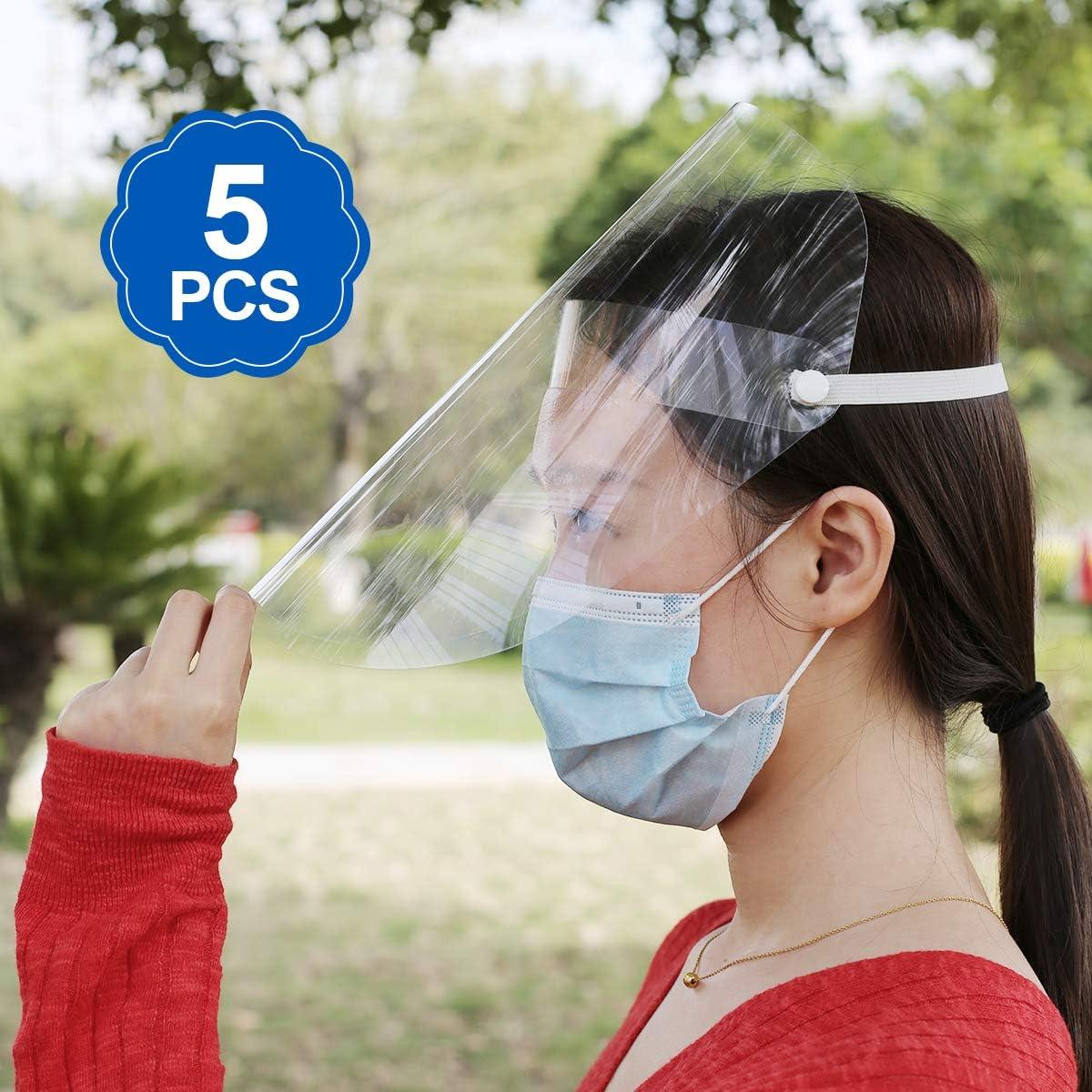 Máscara Aislada del Escudo Facial A prueba de Salpicaduras Anti-Saliva Hombre Mujer Máscara de Aislamiento Transparente Equipo de Proteccion