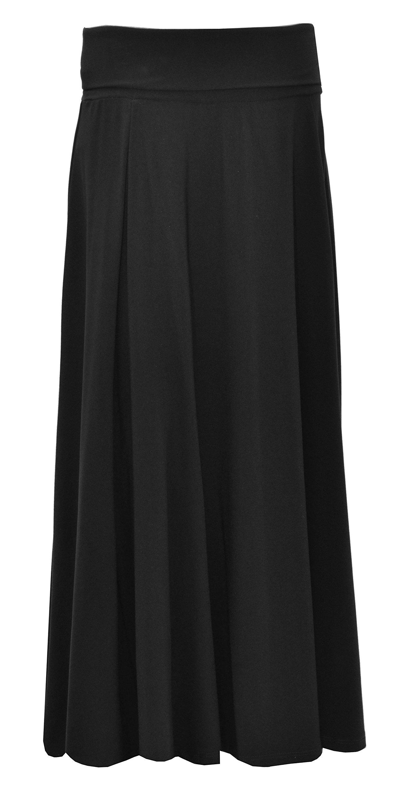 Baby'O GIRL'S (CHILDREN'S) Fold Over Waist Ankle Length Long Skirt, black, l