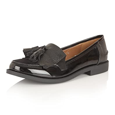 c94a71c8074c0 Womens Dolcis Low Flat Heel Casual Tassel Mocassin Memory Foam Loafer  Office Working Shoe