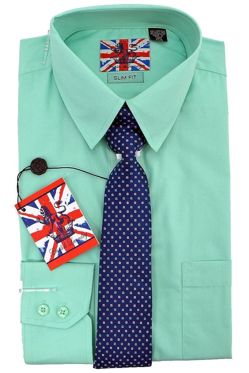 English Laundry Dress Shirt Tie Combo Slim Fit At Amazon Mens