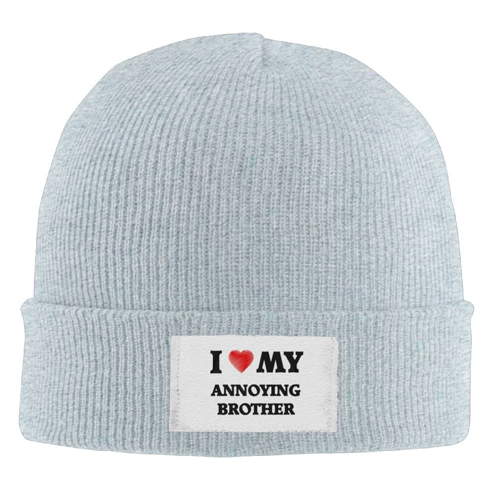 PWLLS Unisex I Love My Aggravating Brother Cool Wool Hat Cool Beanie Head Wear Fashion For Outdoor /& Home
