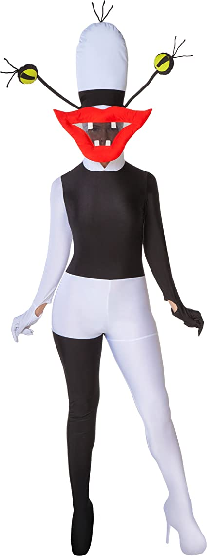 Spirit Halloween Adult One Piece Oblina Costume Aaahh Real Monsters White Black Amazon Ca Clothing Accessories