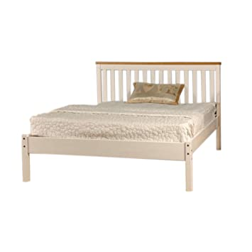 Comfy Living 4ft6 Double Low End Solid Wooden Medina Bed Frame In