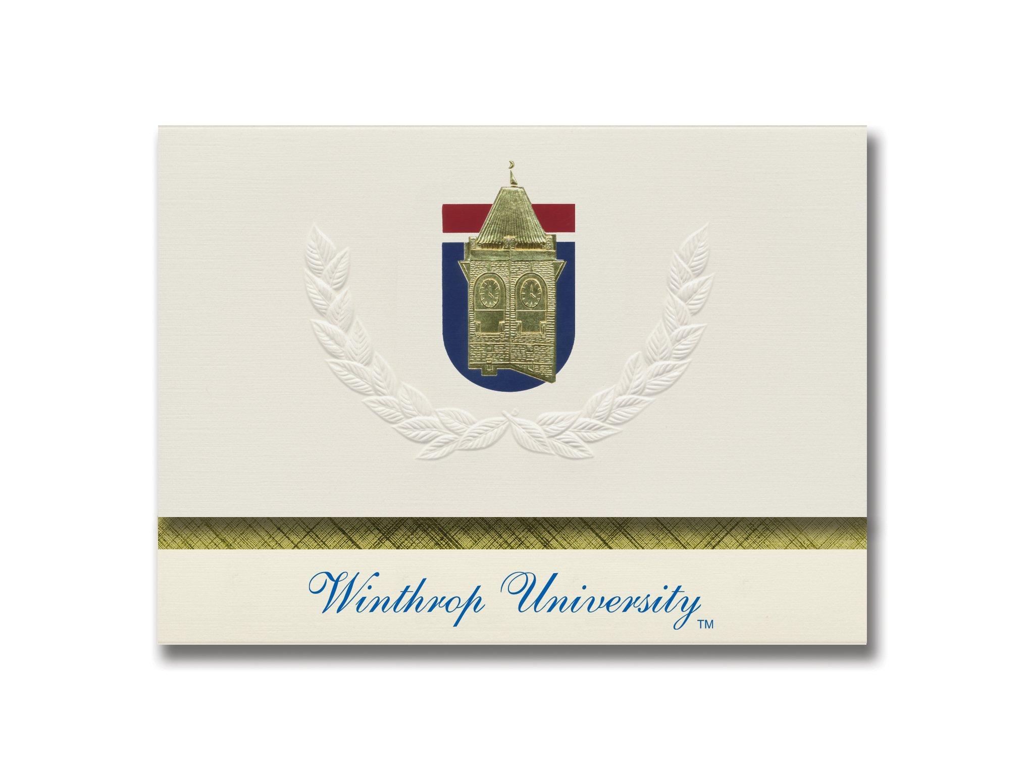 Signature Announcements Winthrop University Graduation Announcements, Platinum style, Elite Pack 20 with Winthrop U. Seal Foil
