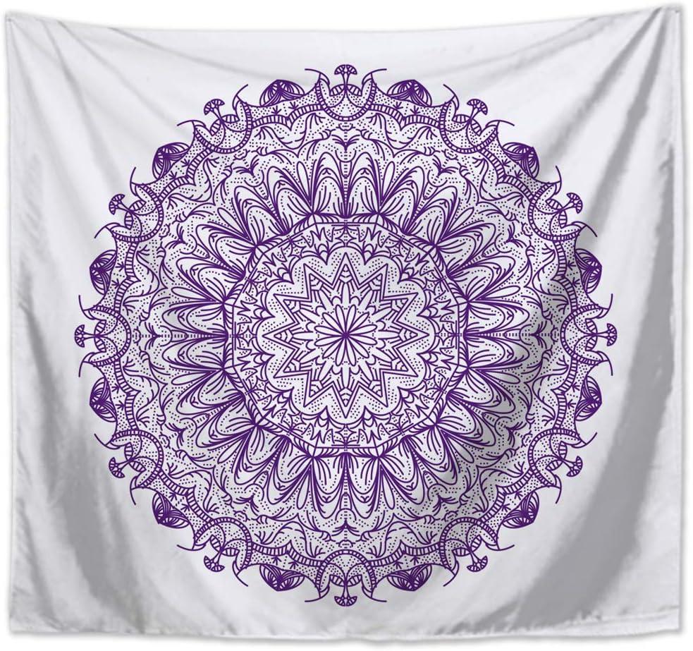 130 x 150cm, Violet Morbuy Mandala IndienneTapisserie Tentures Murales Hippie//Psychedelique Bohemian Rideaux D/écoration Id/éale Tenture Couverture Pique-Nique Nappe Serviette de Plage Salon D/écor