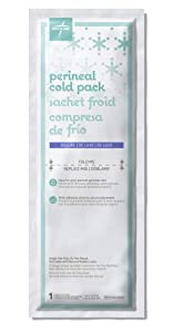 "Medline Deluxe Perineal Cold Packs with Adhesive Strip, 4.5"" x 14.25"" (Pack of 24), postpartum, great for new moms"
