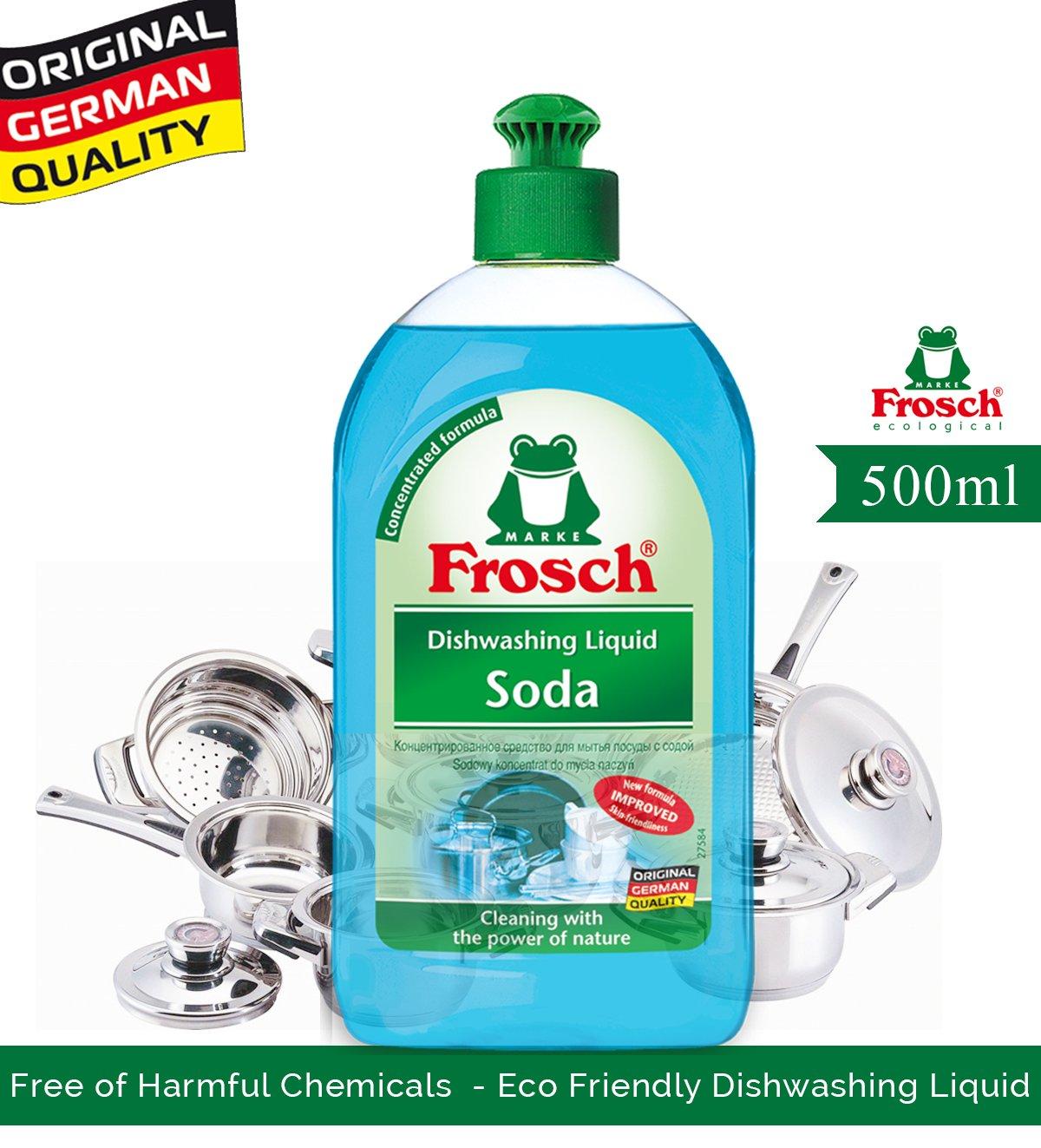 Amazon.com: Frosch Soda Glanz-Spülmittel, 8er-Pack (8 x 500 ...