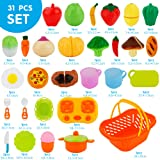 Sotodik 31PCS Cutting Toys Shopping Cart Toys