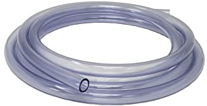 Rollerflex Food Grade Crystal Clear Vinyl Tubing, 1/2-Inch ID x 5/8-Inch OD, 10-FT