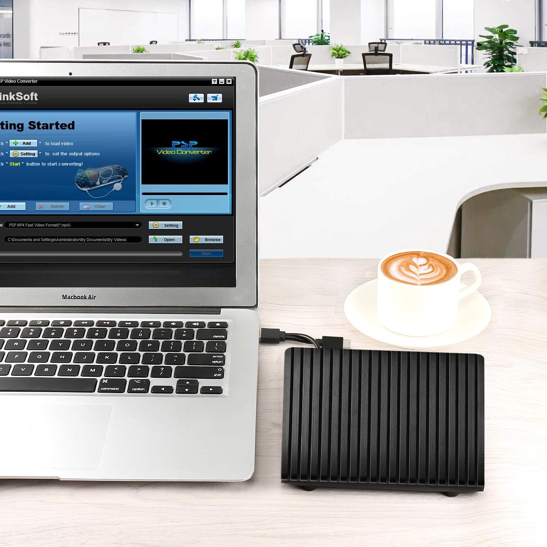 Lecteur de CD/DVD Externe, USB 3.0 Type C Double Port - AMIGIK Graveur d\'enregistreur Optique Portable, Transfert de Données à Grande Vitesse pour Ordinateur Portable PC Mac OS Windows Linux