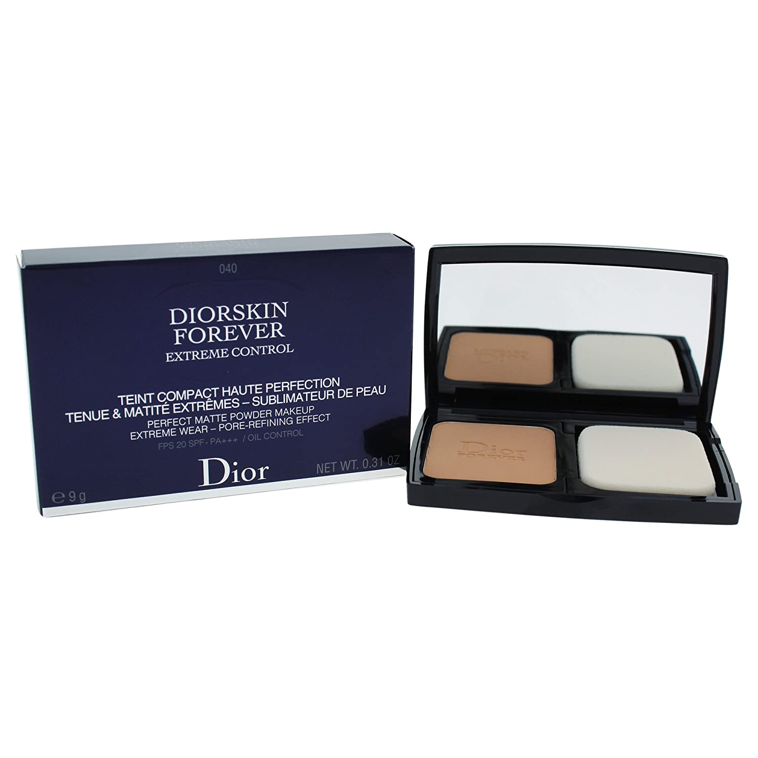 Christian Dior Diorskin Forever Extreme Control Matte Powder Makeup SPF 20 Foundation for Women, Honey Beige, 0.31 Ounce