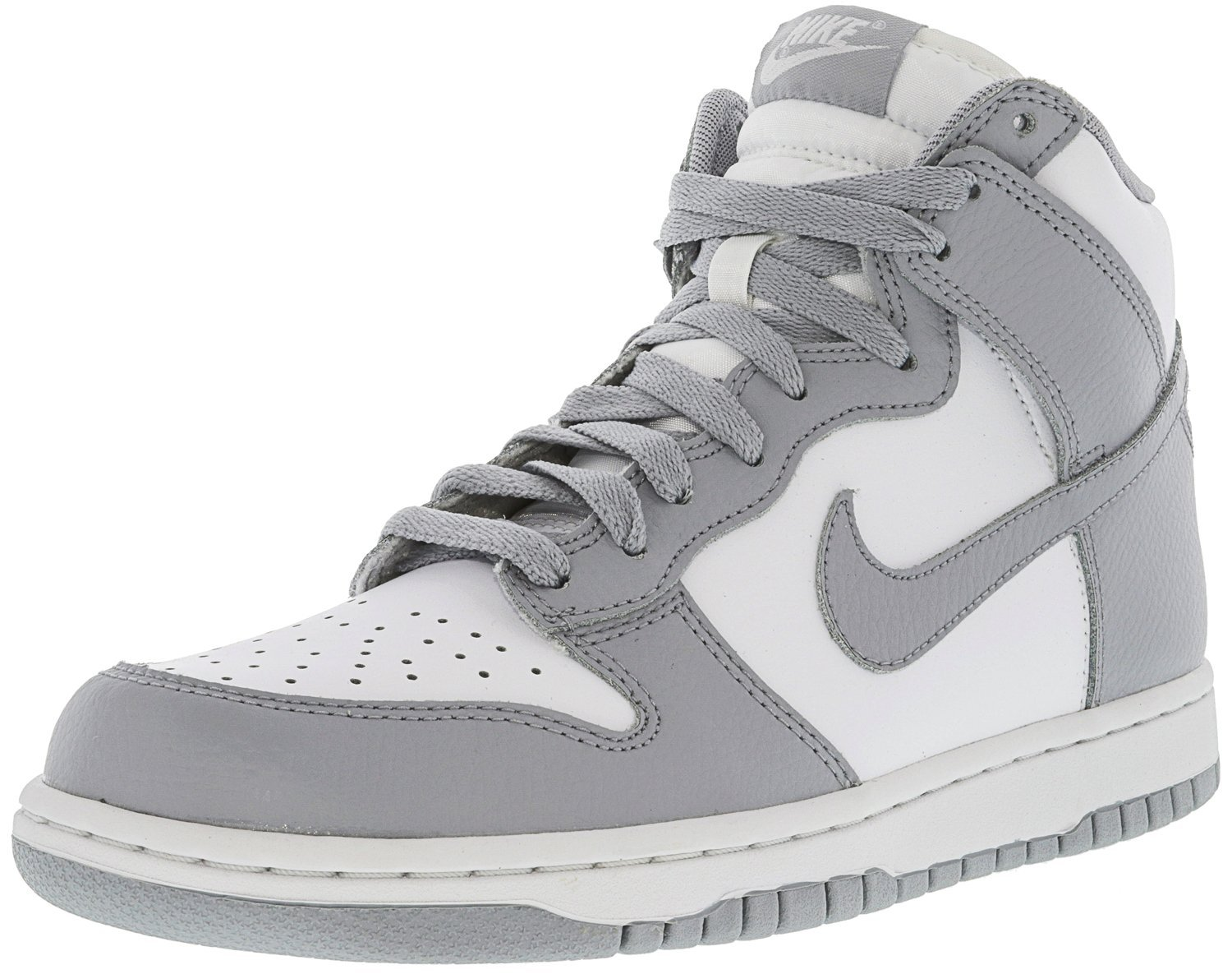 NIKE Women's Dunk Hi White/Wolf Grey High-Top Basketball Shoe - 8.5M