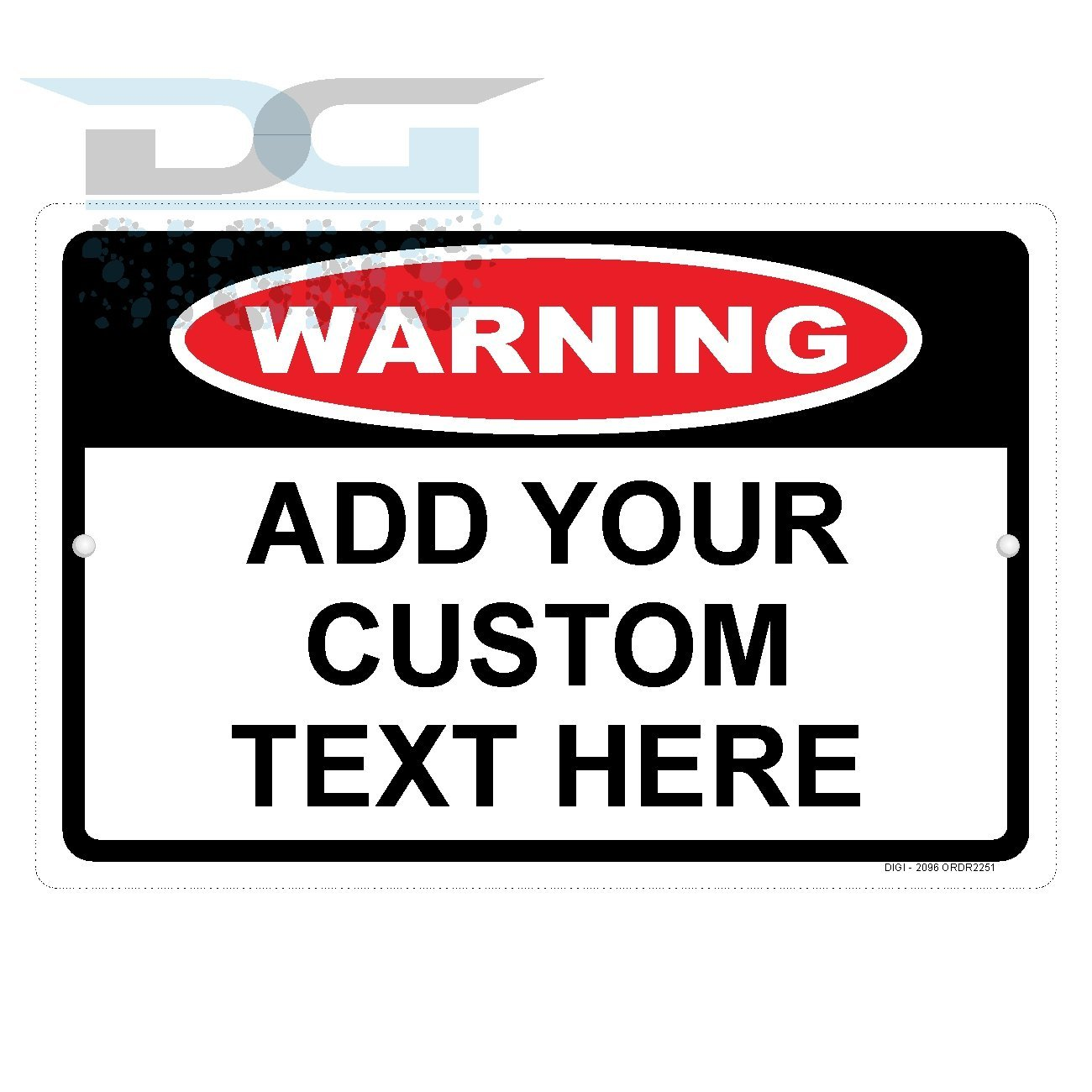 Custom Warning Sign with Your Text Personalized Aluminum Sign