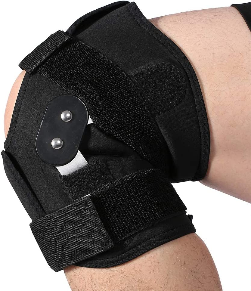 Basketball and More Sports L Knee Brace Running ACL Aramox Knee Support with Adjustable Strapping Breathable Neoprene Sleeve for Arthritis