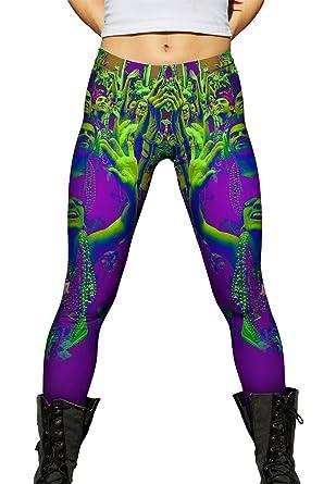 7bc79bfa Yizzam- Mardi Gras Ready New Orleans- Ladies Womens Leggings -X-Small