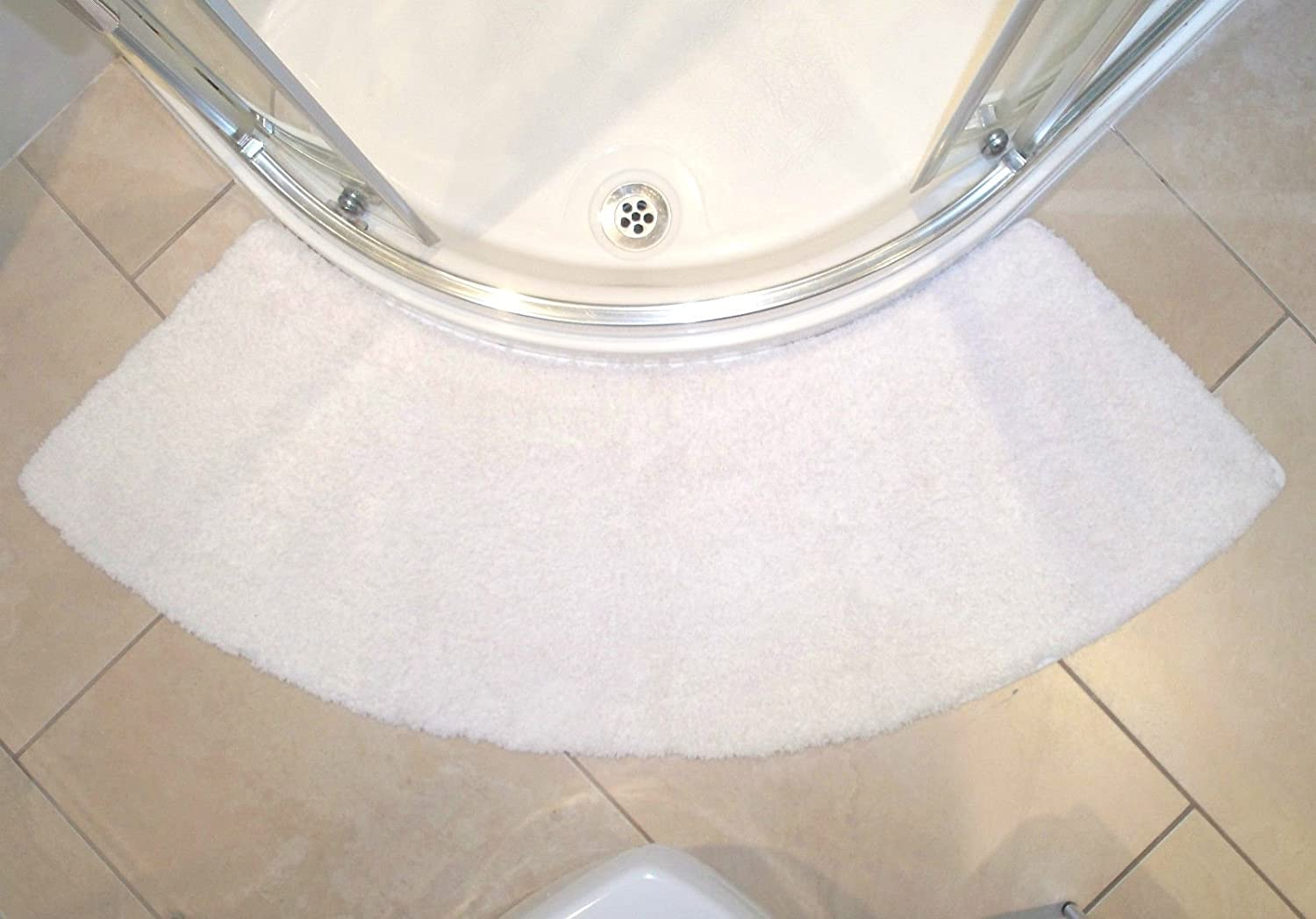 quadrant white curved shower mat largest available amazoncouk kitchen u0026 home