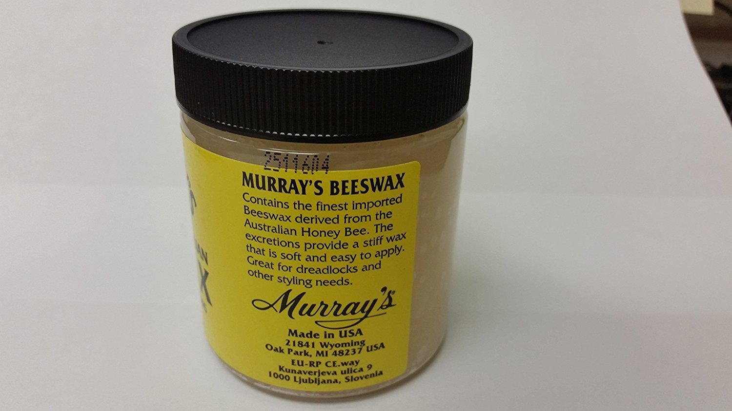 Murrays Beeswax 35oz Jar Amazoncouk Beauty