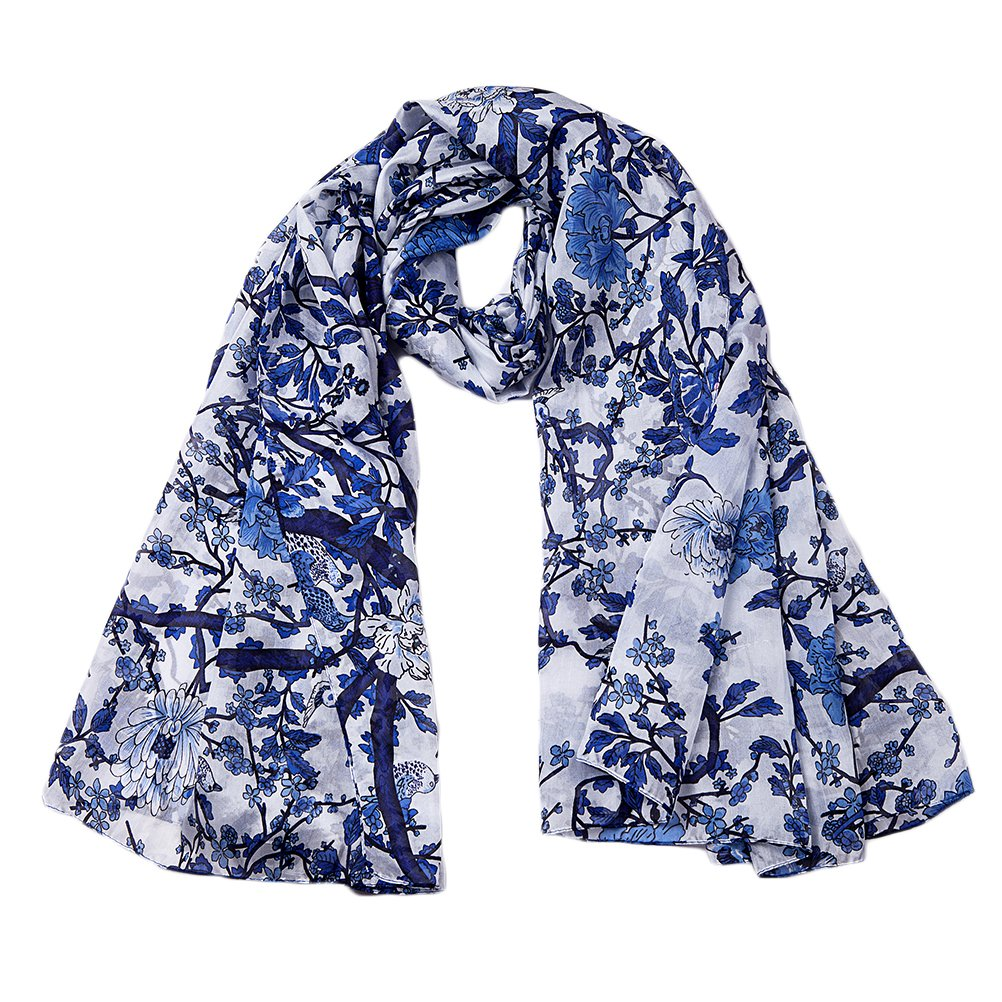 EcoWonder 100% Silk Scarf For Women Fashion Sunscreen Shawls Lightweight Scarfs Hair Sleeping Wraps for Women Wonderful Gift