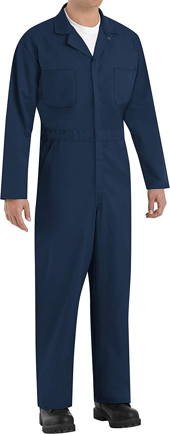 Red Kap Men's Long Sleeve Twill Action Back Coverall: Clothing