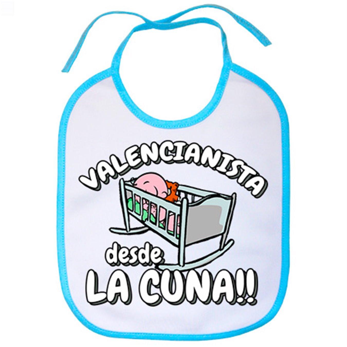 Babero Valencianista desde la cuna Valencia fútbol - Celeste ...