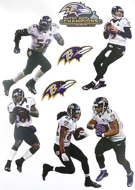 info for 00e2f edf0b Amazon.com: FATHEAD Baltimore Ravens Super Bowl 47 Champions ...