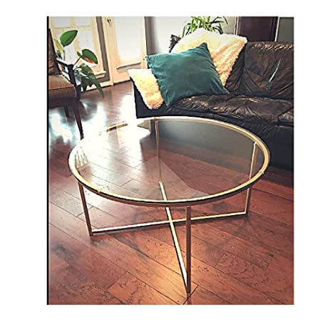 Amazoncom Gold Coffee Table Antique Elegant Round Decor
