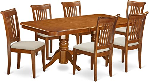NAPO7-SBR-C 7 PC Dining room'set Table