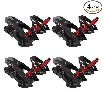 Razor Turbo Jetts Electric Battery Powered Roller Skating Heel Wheels, Black (4 Pack)