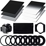 XCSOURCE® Densità Neutra (ND) Filtro Set (ND2 ND4 ND8) + Graduale densita neutra ND Filter (G.ND2 G.ND4 G.ND8) + 9pcs anello adattatore (49mm 52mm 55mm 58mm 62mm 67mm 72mm 77mm 82mm) + Filtro Holder + Caso filtro Per Cokin P Series Canon Nikon Sony LF006