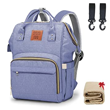 842414db08e3 Balcony&Falcon Baby Oxford Diaper Bag with Changing Pad & Stroller Straps  Multifunction Waterproof Stylish Travel Backpack Larger Maternity Backpack  ...