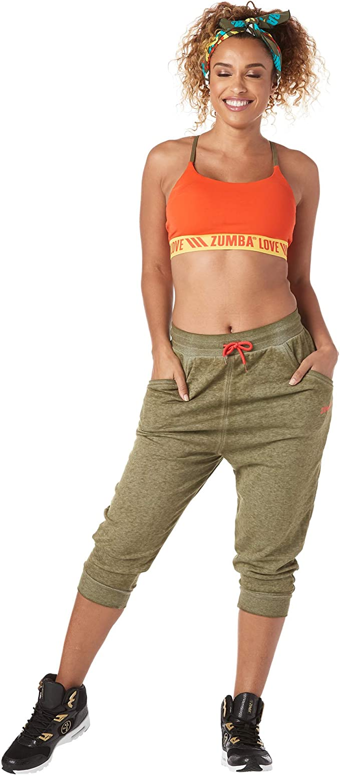 S Zumba Fitness Zumba Harem Capri Pantalon Sport Femme dEntra/înement Dance Fitness Haute de Surv/êtement Pants Black BB