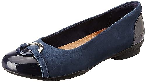 Clarks Mocasines Para Mujer Azul Azul Marino (Navy Combi): Amazon.es: Zapatos y complementos
