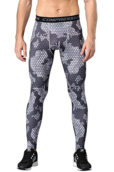 5399eee824e47 1Bests Men's Sports Camouflage Fitness Tights Running Quick-Drying  Breathable Compression Pants (S,