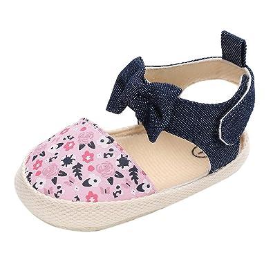 Minuya Chaussures de bébé, Chaussures Bebe Fille Cuir Souple Bowknot Ete  Sandales Chaussures Premiers Pas 8f5d0a0307d5