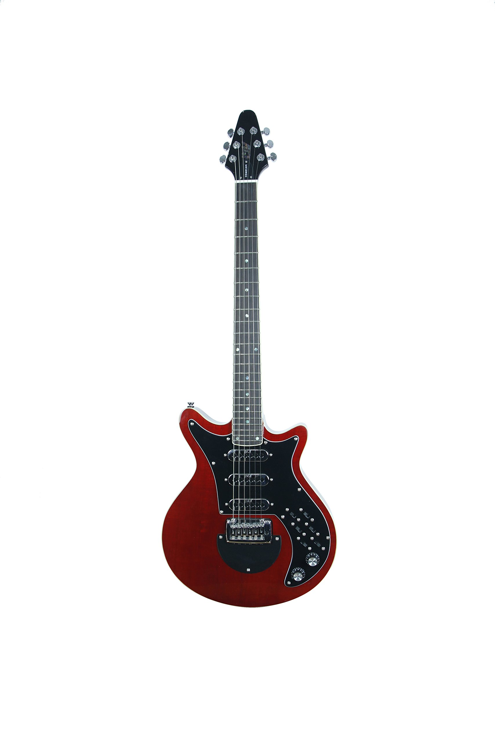 ivy 6 String IYV IBM-200 TRD Brian May Solid-Body Electric Guitar, Trans Red