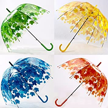 bureze colorido arco para sombrilla paraguas de hojas transparente seta Árbol Burbuja Lluvia Gear