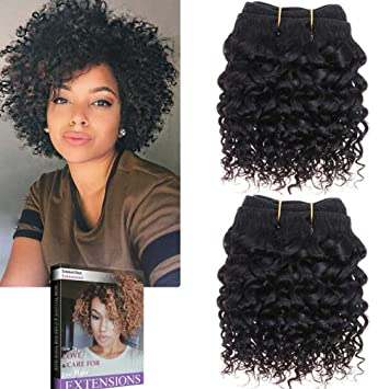 Emmet Short Curly Hair Extension 8inch Easy Installing Sewing