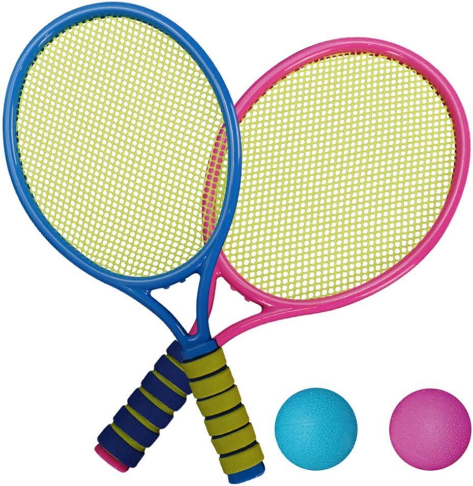 Juego de Raquetas de Tenis Tenis para niños y Adolescentes Juego de Raquetas de bádminton Beach Beach Garden Juego de Pelota para niños a Partir de 3 años