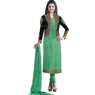 1e52820a07 Ladyline Wedding Salwar Kameez Embroidered Partywear Indian Womens Dress  Pakistani Salwar Suit Ready to Wear Green