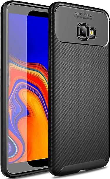 Yocktec Samsung Galaxy J4 Plus Funda, diseño Ultra Delgado de Fibra de Carbono TPU Funda Protectora Suave Resistente a los rasguños para Smartphone Samsung SM-J415FN Galaxy J4+ 2018 (Negro): Amazon.es: Electrónica