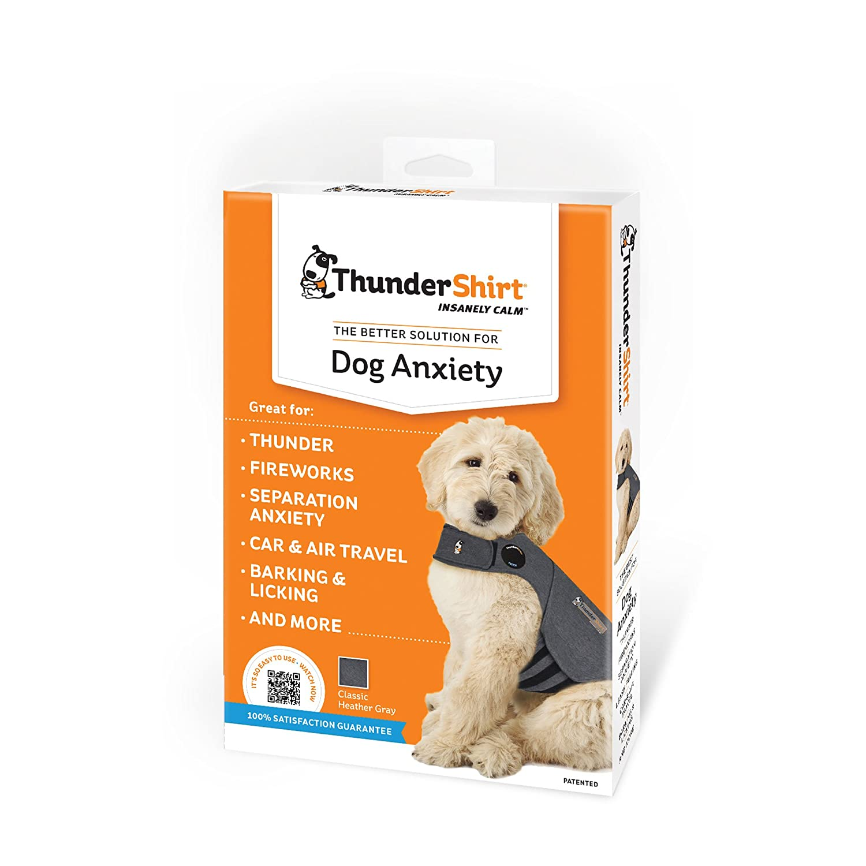 8d6b52bb6 Amazon.com : ThunderShirt Dog Anxiety Jacket, Heather Gray, Large : Pet  Relaxants : Pet Supplies