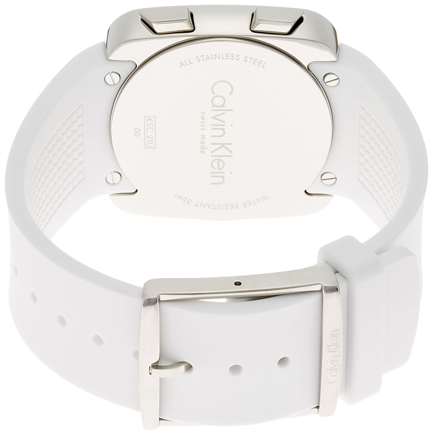Amazon.com: Calvin Klein Womens Digital Watch with Silicone Strap K5C21UM6: Watches
