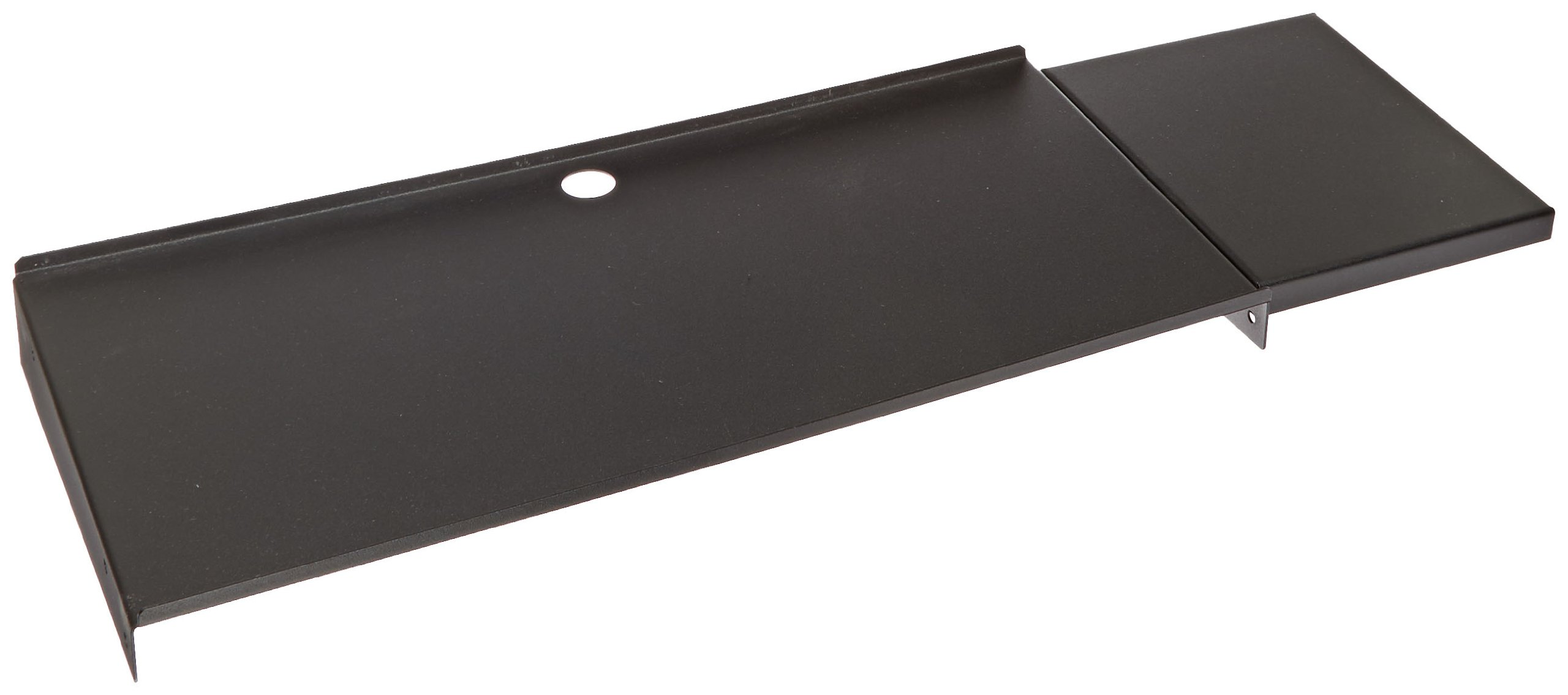 BUD Industries SA-1775-BT Steel Stationary Keyboard and Mouse Shelf, 10'' Length x 27-1/8'' Width x 1-7/8'' Height, Black Texture Finish